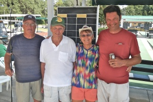 Finalists from the Tournament, left to right. Wayne Lockwood, Ron Raymond, Bonnie Radke and Rex Galusha.